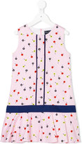 Oscar De La Renta Kids - floral print dress - kids - Cotton/Polyester - 10 yrs