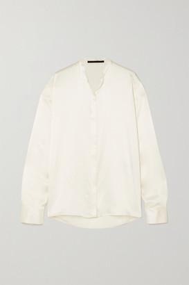 Haider Ackermann Silk-satin Shirt - Ivory