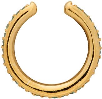 Maria Black Gold Colore Mint Ear Cuff