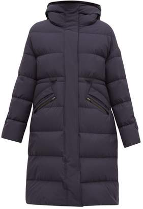 Herno Quilted Down-filled Hooded Coat - Womens - Navy