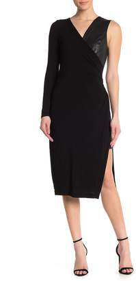 BCBGMAXAZRIA Asymmetric Knit Dress