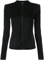 Jitrois fitted jacket - women - Suede - 36