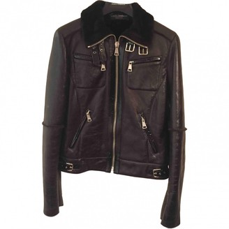 Dolce & Gabbana Brown Leather Leather jackets