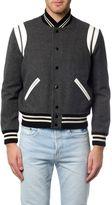 Saint Laurent Classic Teddy Jacket In Grey Wool