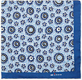 Kiton Men's Floral-Print Silk Pocket Square