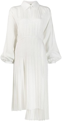 Fendi pleated shirt style dress