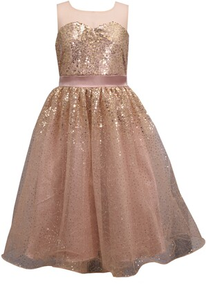 Iris & Ivy Sequin Illusion Strapless Party Dress