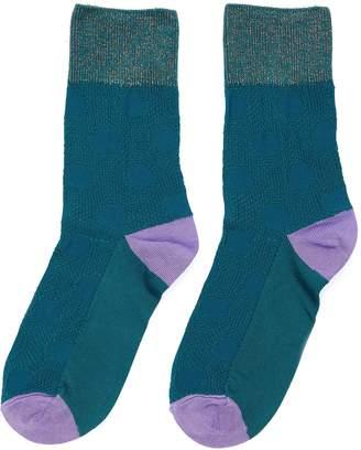 Hysteria By Happy Socks 'Viktoria' metallic accent ankle socks