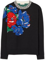 Tory Burch Oversized Floral Pullover