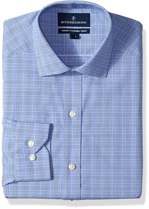 Buttoned Down Tailored Fit Button-collar Pattern Non-iron Dress Shirts Camicia