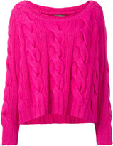 N.Peal chunky cable slouch jumper - women - Cotton/Cashmere - S