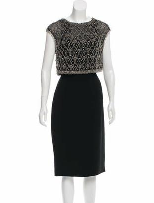 Pamella Pamella Roland Beaded Midi Dress Black