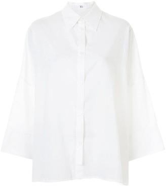 Y's Asymmetric-Buttoned Long-Sleeve Shirt