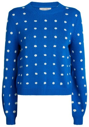Chinti and Parker Wool-Cashmere Polka-Dot Sweater
