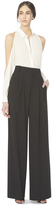 Alice + Olivia Black Eloise Straight Wide Leg Trouser