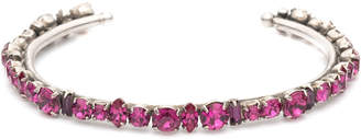 Dannijo Cielo Crystal Cuff Bracelet, Fuchsia