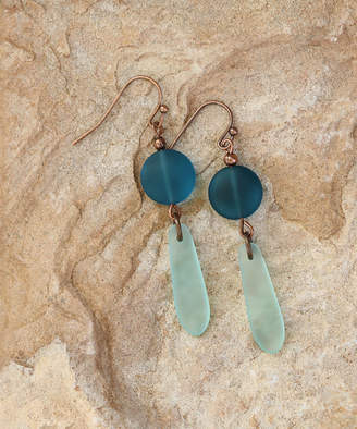 Boho Treasures By Wise Creations Boho Treasures by Wise Creations Women's Earrings Blue, - Teal & Sea Foam Sea Glass Drop Earrings