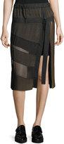 Public School Lorna A-Line Plisse Midi Skirt