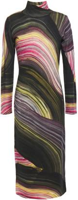 Diane von Furstenberg Printed Merino Wool Midi Dress