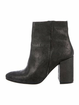Barneys New York Leather Boots Black
