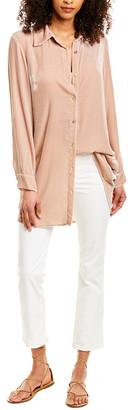 Johnny Was Mimi Velvet Silk-Blend Button-Down Shirt