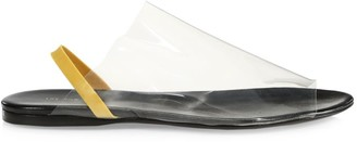 The Row Clear PVC Slingback Sandals