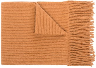 Paco Rabanne English ribbed-knit scarf