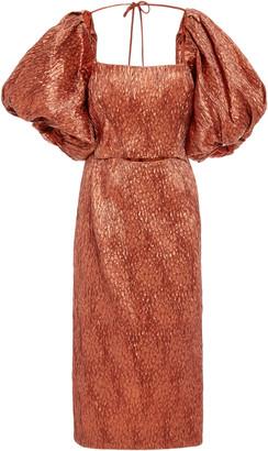 Rachel Comey Limbara Crinkled Silk-Blend Midi Dress