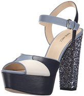 Nine West Women's Calliah Leather Platform dress Sandal