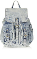 Topshop Ripped Denim Backpack