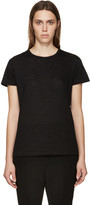 Proenza Schouler Black Slub Cotton T-Shirt