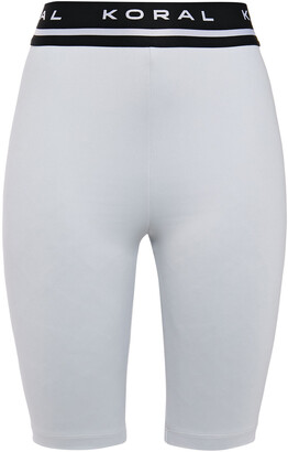 Koral Streamline Monogram-trimmed Stretch Shorts