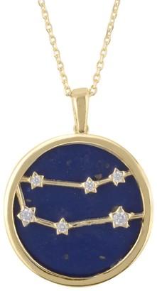 Latelita Zodiac Lapis Lazuli Gemstone Star Constellation Pendant Necklace Gold Gemini