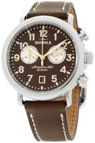 Shinola The Runwell 20044132 Stainless Steel & Leather Quartz 41mm Mens Watch