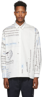 Études White Wikipedia Edition Illusion Page Shirt