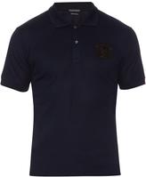 Alexander McQueen Crest-appliqué cotton polo shirt