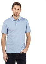 J By Jasper Conran Big And Tall Light Blue Birdseye Polo Shirt