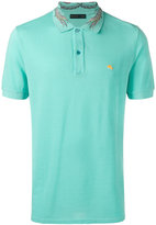 Etro contrast logo polo shirt - men - Cotton - XXL