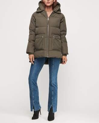 Express Sherpa Hood Basic Puffer Coat