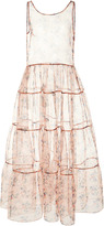 Jill Stuart Anamaria Sheer Floral Dress