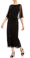 Pisarro Nights Sequin Capelet Gown