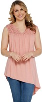 Lisa Rinna Collection Shirred Front Detail Tank