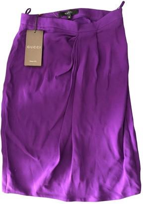 Gucci Purple Silk Skirt for Women