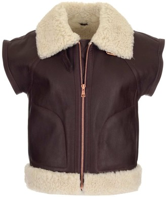 See by Chloe Aviator Shearling Zip-Up Gilet