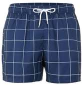 Topman Navy Check Swim Shorts
