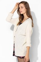 Urban Outfitters Pins And Needles Cozy Mixed-Stitch Dolman Cardigan