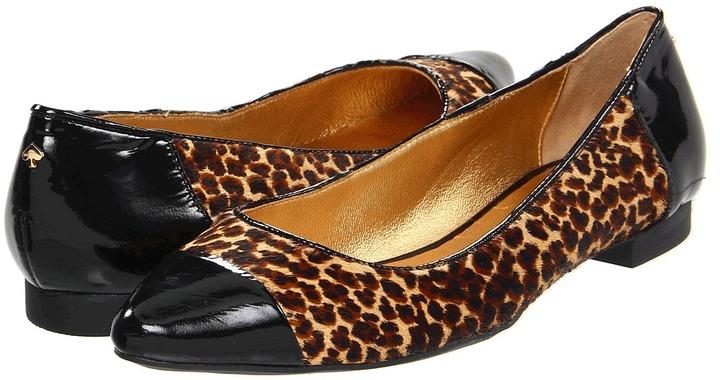 Kate Spade Eddie Too (Camel/Black Mini Leopard Print) - Footwear