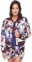 Juicy Couture Quilted Solar Floral Bomber Jacket