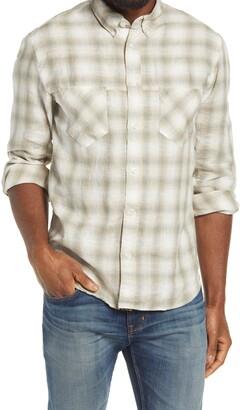 Billy Reid Regular Fit Plaid Linen Button-Down Shirt