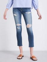 Rag & Bone Dre Capri distressed boyfriend-fit slim mid-rise jeans